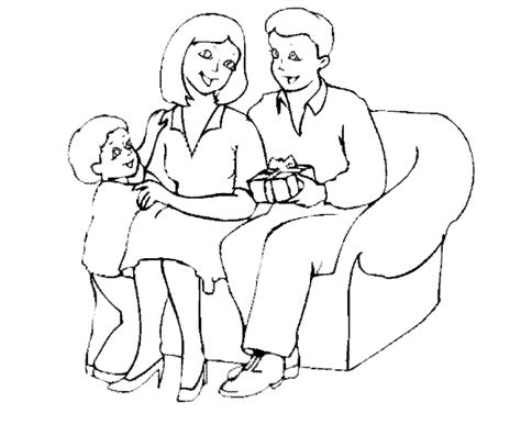 art father and mother coloring coloring pages