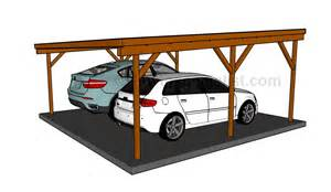 Carport Design Plans by Flat Roof Double Carport Plans Howtospecialist How To