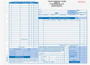 automotive work order template auto repair order forms arocc 664 and aro 656