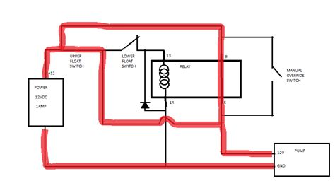 relay float switch wiring diagram boat 38 wiring diagram