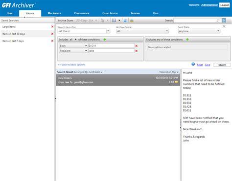 Advanced Email Search Advanced Email Search Features Gfi Archiver