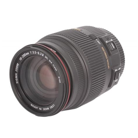 Sigma 18 200 Nikon sigma 18 200mm f 3 5 6 3 ii dc os hsm para nikon