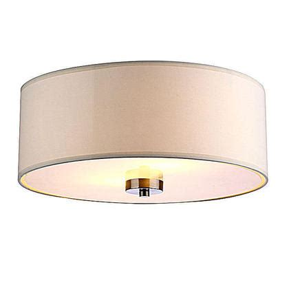 white shade fabric 2 lights ceiling l
