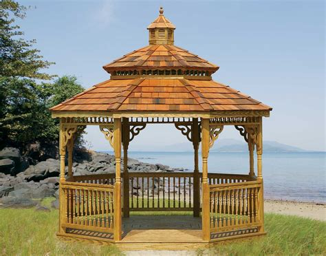 octagon gazebo treated pine roof octagon gazebos gazebos by