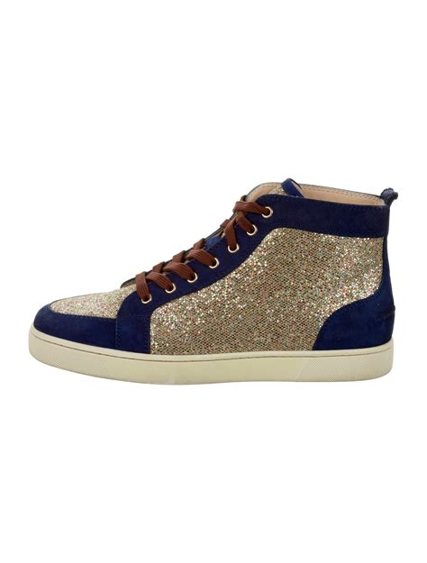 christian sneakers christian louboutin louis flat glitter sneakers shoes