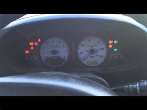 airbag deployment 1993 isuzu trooper instrument cluster isuzu rodeo sport dash gear lights problem 2nd video youtube