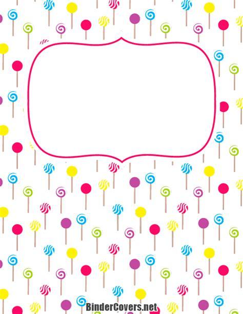 free printable binder covers no download printable lollipop binder cover