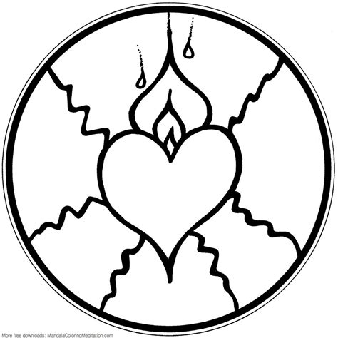 coloring pages of hearts with flames best hearts with flames coloring pages pictures free