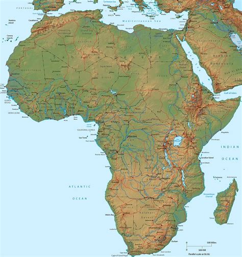 physical maps of africa map of africa physical picture