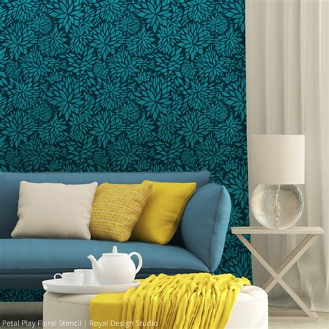 Wee Ones Nursery by Get Alluring Accent Walls With Stencils Paint Pattern