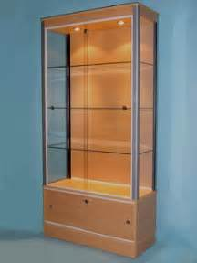 Glass Display Cabinet Leicester D51 Large Storage Glass Display Cabinet 183 Designex Cabinets