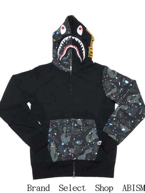 Bape Space Camo Shark Zip Hoodie brand select shop abism rakuten global market a bathing