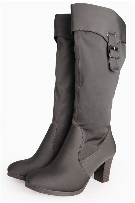 sole city tisha cuffed knee high boots in brown iclothing
