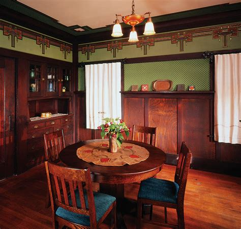 arts and crafts bungalow interiors arts crafts dining room craftsman bungalow interiors
