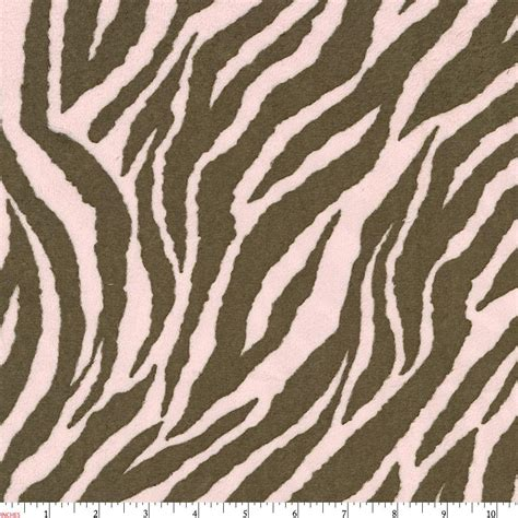zebra pattern fabric pink and brown zebra minky fabric by the yard pink