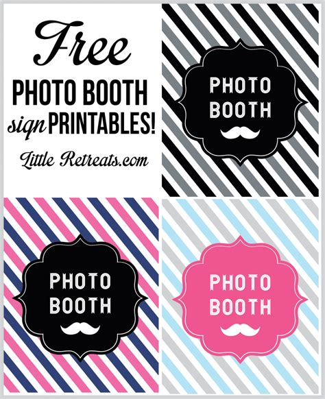 printable photo booth prop signs 6 best images of free printable photo booth sign free