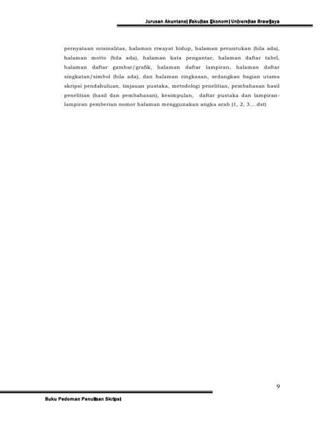 format ringkasan skripsi pedoman skripsi jur akuntansi