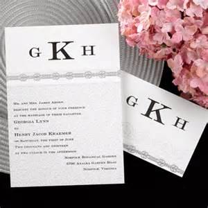 Monogram Wedding Invitations Custom Personalized Monogrammed