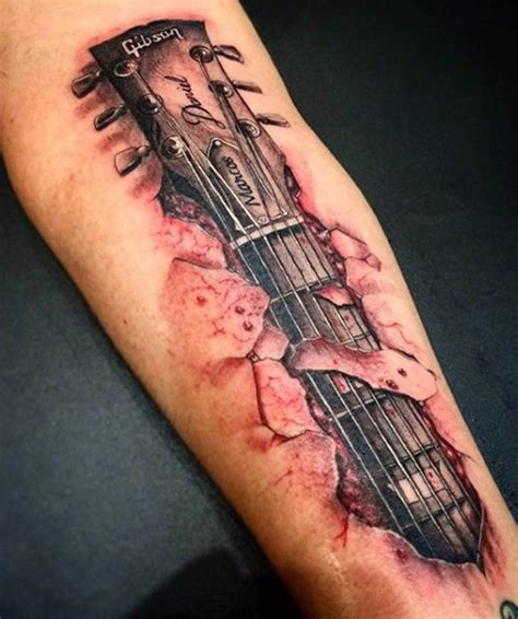 chords for tattoo 45 guitar tattoo designs and ideas tattoos era