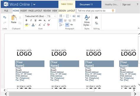 microsoft word business card templates
