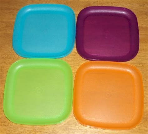 Tupperware Plate plates tupperware 8 inch square plates 4 colors