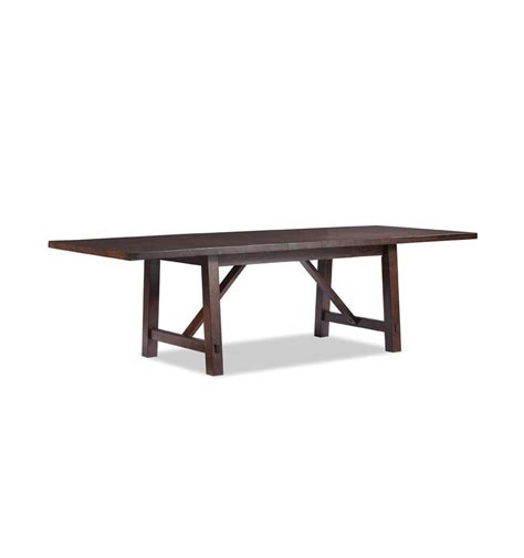 rustic dining set with bench rustic mahogany dining ext table set simply woods