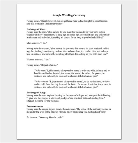 christian wedding ceremony template wedding outline template 13 for word and pdf format