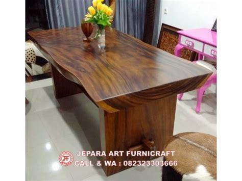 Meja Makan Solid Wood best seller meja makan solid trembesi alami termurah