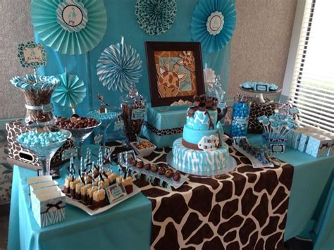 safari baby shower table table ideas