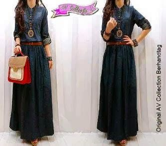 Dress Bhn Denim all about fashion accesories bintang collection