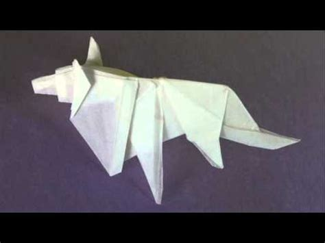 How To Make A Paper Wolf - origami wolf