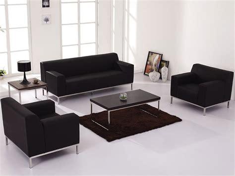 Reception Sofa Set 3pc modern leather office reception sofa set ff 0459 12
