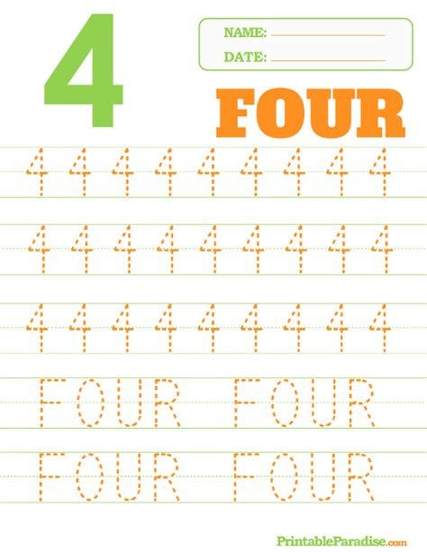 number 4 tracing worksheets free worksheets 187 trace number 4 free math worksheets for kidergarten and preschool children