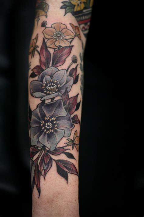botanical tattoo artists flower artists on floral botanical