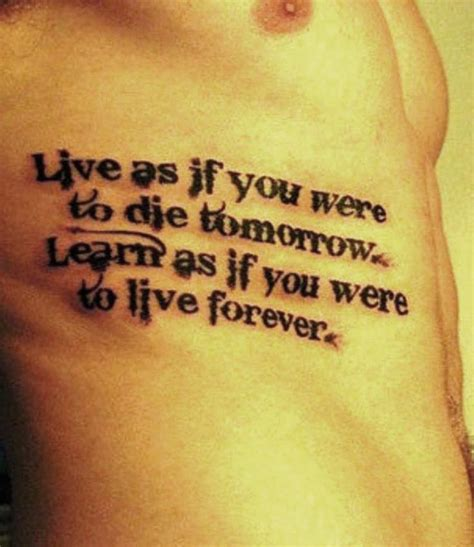 men quote tattoos 25 best quotes for ideas on
