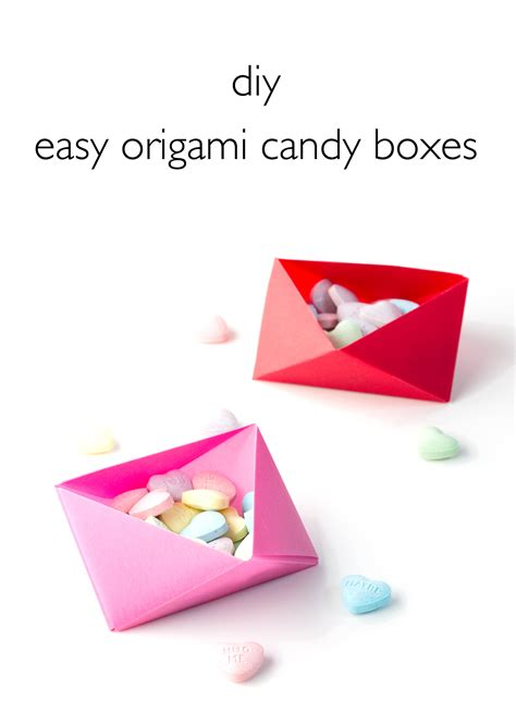 vitamini handmade diy easy origami boxes