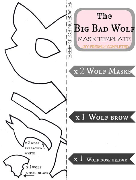 How To Make A Wolf Mask Out Of Paper - freshly completed the big bad wolf costume tutorial