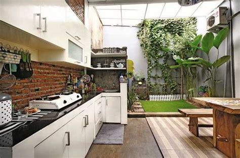 desain dapur single line 26 best desain dapur terbuka semi outdoor menghadap