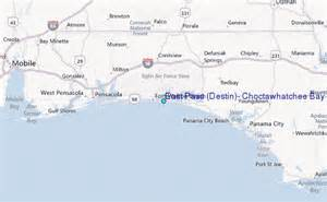 where is destin florida located on the map east pass destin choctawhatchee bay florida tide