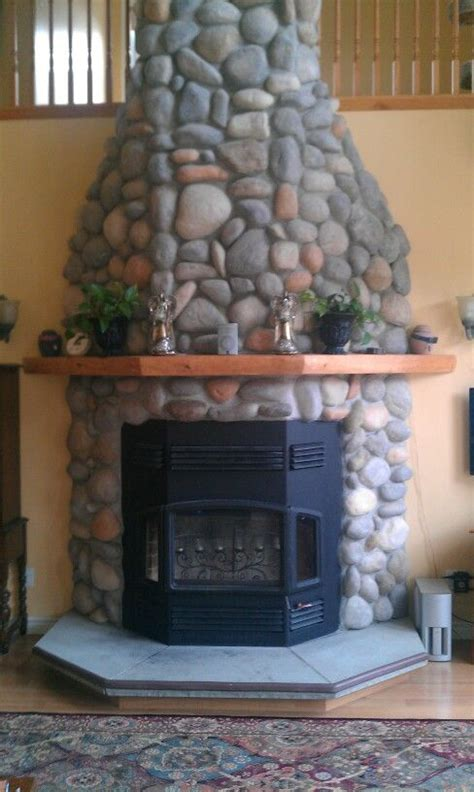 Faux Fieldstone Fireplace by Faux Fireplace Fireplaces
