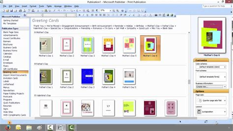 publisher template photo card modern how to create a greeting card with microsoft publisher
