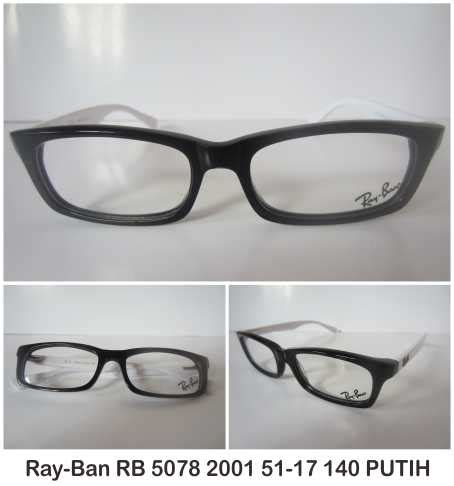 Harga Kacamata Rayban Putih ban rb 5078 2001 51 17 140 putih 20120617164105 jual kacamata jual frame kacamata jual