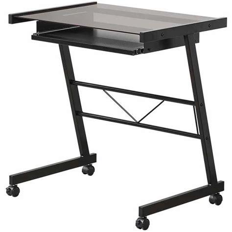 black glass computer desk sears