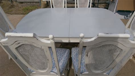 sold painted shabby chic dining set kitchen table with