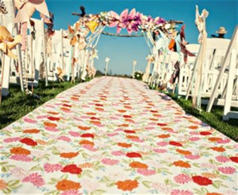 Wedding Aisle Runner Fabric by Patterned Colorful Aisle Runner Fabric In Bulk Weddingbee