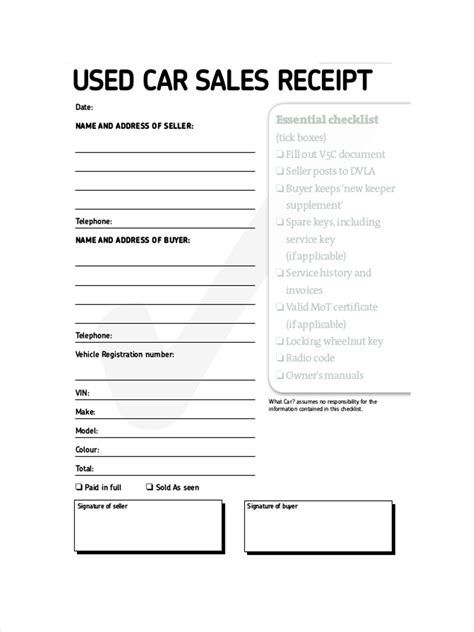 sale car as is template receipt california 10 sales receipt exles sles pdf word pages