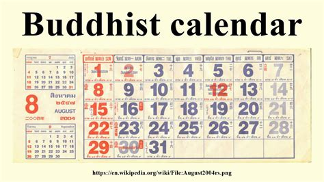 buddhist calendar youtube