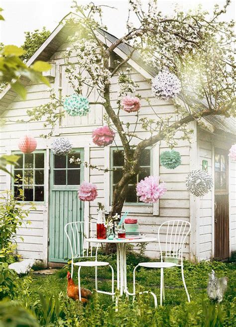 Shabby Chic Garden Decor 17 Shabby Chic Garden For Feel House Design And Decor