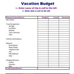 Travel Budget Planner Template Vacation Planner Template Excel Calendar Template 2016