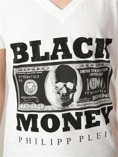 design t shirt earn money lyst philipp plein black money t shirt in white for men